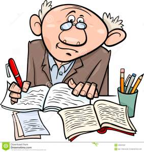 professor-writer-cartoon-illustration-scientist-taking-notes-43842053